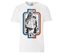 "T-Shirt ""r2D2"" blau / rot / schwarz / weiß"