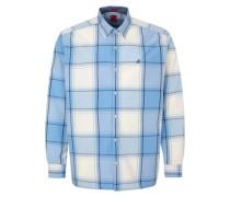 Regular: Karohemd aus Baumwolle hellblau / weiß