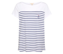T-Shirt 'Anchor' navy / weiß