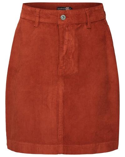 Rock 'Cord Mini Skirt' rot