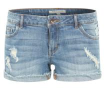 Jeansshorts im Used-Look blue denim