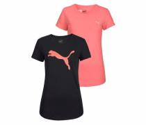 T-Shirt 'womens TEE Pack' rosé / schwarz