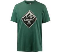'route' T-Shirt Herren grün