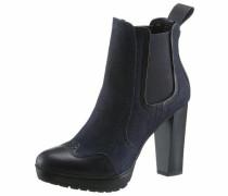 High-Heel-Stiefelette dunkelblau