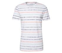T-Shirt 'i/o stripe tee' blau / orange / weiß