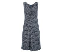 Jerseykleid mit Print navy / weiß