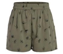 Bedruckte Shorts oliv