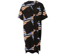 Seiden-Kleid mit kurzen Ärmeln schwarz