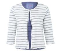 Sweatjacke 'Carmenk' im Streifen-Design blau / weiß