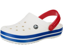 Crocband Clogs blau / rot / weiß