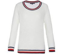 Pullover 'ebina Texture Swtr' blau / rot / weiß