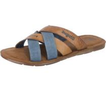 Offene Schuhe rauchblau / braun