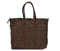 Lucchi Shopper Tasche 34 cm dunkelbraun