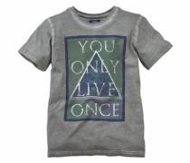 T-Shirt mit Frontdruck für Jungen grau