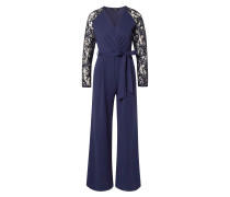 Overall 'lace Sleeve Wrap Jumpsuit'