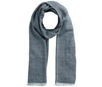 Mini-Streifenmuster-Schal blau