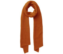 Schal Lang Asymmetrisch orangerot