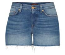 Shorts 'raw Cut' blau