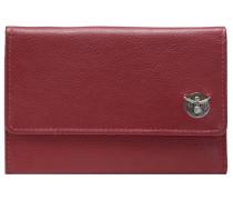 Classic Geldbörse Leder 15 cm rot