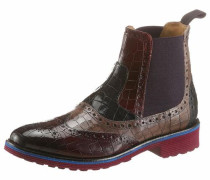 Chelseaboots navy / taupe / bordeaux