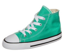 Chuck Taylor All Star 'Fresh Colors High' Sneaker Kleinkinder jade
