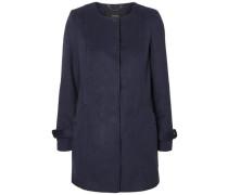 Woll Mantel dunkelblau