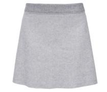 Ausgestellter Rock aus Woll-Mix grau