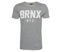T-Shirt 'snow MEL Wording' schwarz