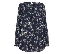Bluse mit Blumenmuster navy / mischfarben