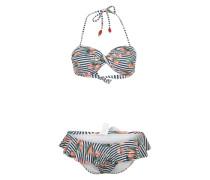 Bikini 'Siennas Swimmwear' schwarz / weiß