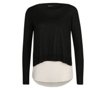 'onlSUE' Pullover schwarz / naturweiß