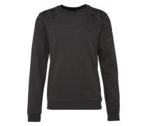 Sweatshirt mit Stickerei grau / schwarz