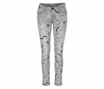 Slim-fit-Jeans 'Riva' grau
