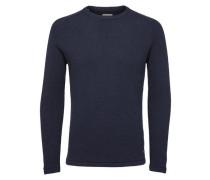 Strickpullover Rundhalsausschnitt- blau / navy