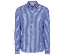 Langarm Bluse blau / weiß