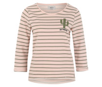 Sweatshirt mit Streifen 'Onlmilan' rosé
