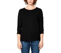Sweatshirt mit Chiffonärmeln schwarz