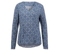 Bluse 'printed' blau