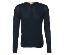 Pullover in Struktur-Strick 'Kusvet' dunkelblau