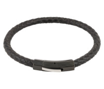 Armband aus Leder schwarz