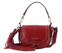 Pearldistrict Handtasche Leder 16 cm rot