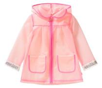 Tranparenter Regenmantel für Mädchen rosa