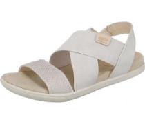 Sandalen 'Damara' beige / weiß
