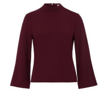 Bluse 'Stand-up Collar' bordeaux