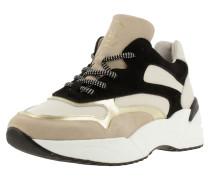 Sneaker beige / schwarz