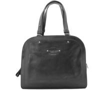 Brera Handtasche Leder 33 cm schwarz