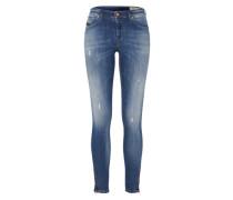 'skinzee-Zip' Skinny Jeans 084Iy blue denim