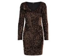 Kleid mit langen Ärmeln und Pailletten