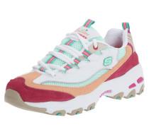 Sneaker 'd'lites' weiß / koralle / rot