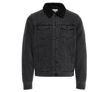 Warme Jeansjacke schwarz